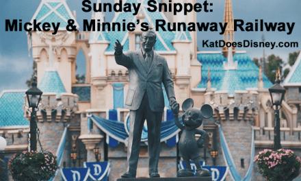 Sunday Snippet: Mickey & Minnie's Runaway Railway