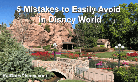 5 Mistakes to Easily Avoid in Disney World