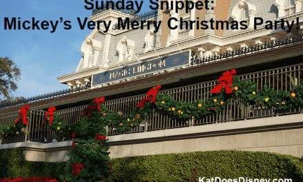 Sunday Snippet: Mickey's Very Merry Christmas Party!