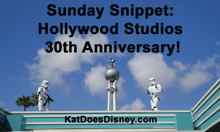 Sunday Snippet: Hollywood Studios 30th Anniversary!