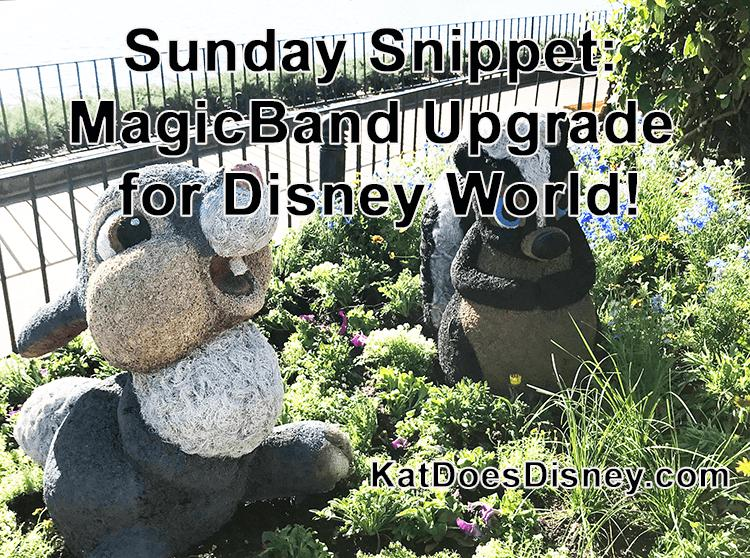Sunday Snippet: MagicBand Upgrade for Disney World!