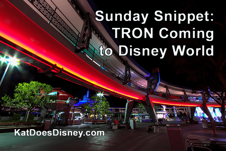 Sunday Snippet: TRON Coming to Disney World