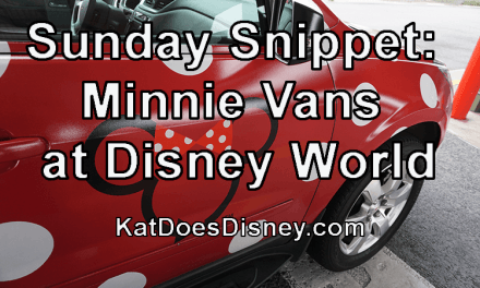 Sunday Snippet: Minnie Vans at Disney World