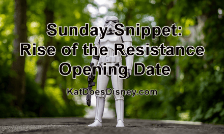 Sunday Snippet: Rise of the Resistance Opening Date
