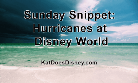 Sunday Snippet: Hurricanes at Disney World