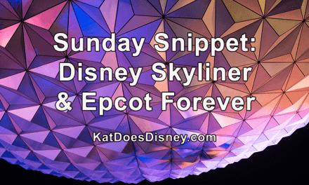 Sunday Snippet: Disney Skyliner & Epcot Forever