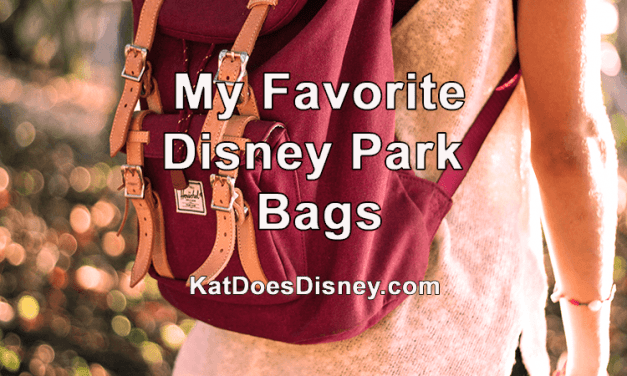 My Favorite Disney Park Bags