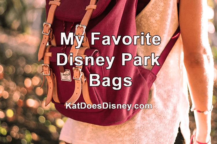 My Favorite Disney Park Bags