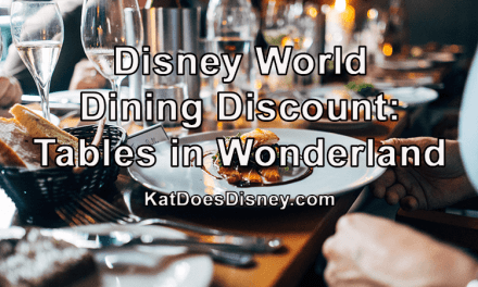 Disney World Dining Discount: Tables in Wonderland