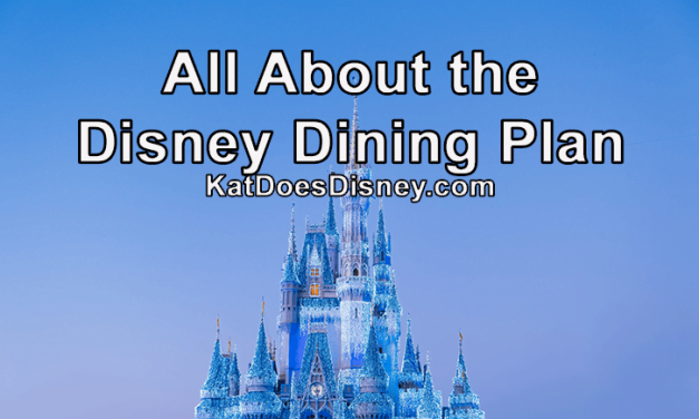 All About the Disney Dining Plan