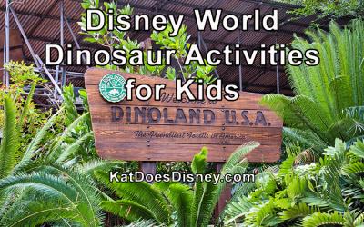 Disney World Dinosaur Activities for Kids