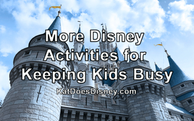 More Disney Activities for Keeping Kids Busy