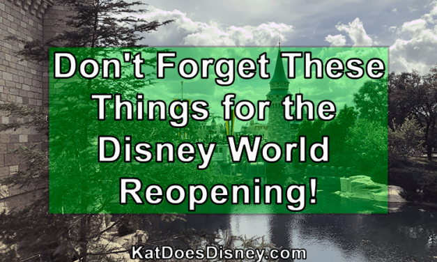 Don't Forget These Things for the Disney World Reopening!