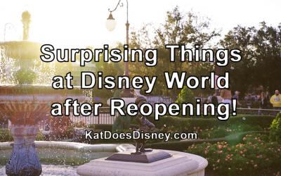 Surprising Things at Disney World after Reopening!