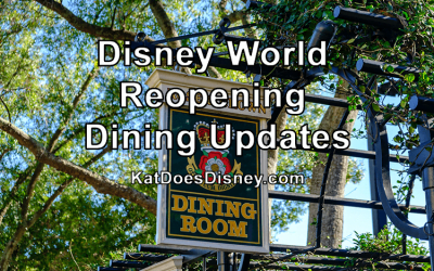 Disney World Reopening Dining Updates