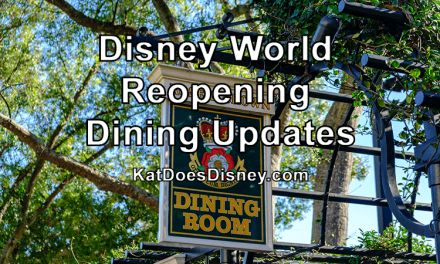 Disney World Reopening Dining Updates
