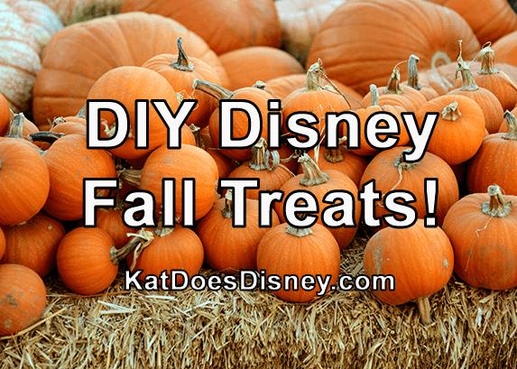 DIY Disney Fall Treats!