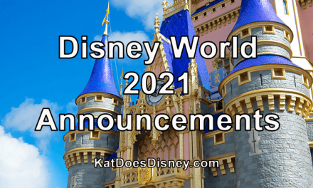 Disney World 2021 Announcements