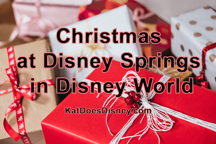 Christmas at Disney Springs in Disney World