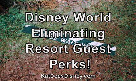 Disney World Eliminating Resort Guest Perks!