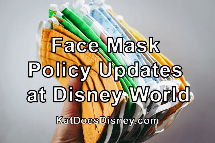 Mask Updates Disney World