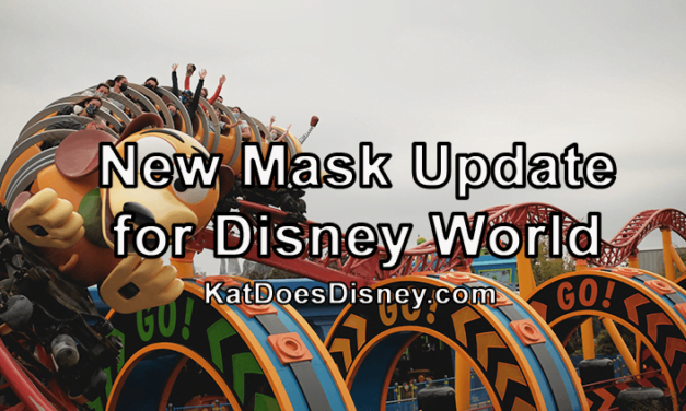 New Mask Update for Disney World!